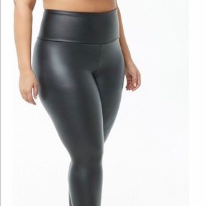 Faux leather leggings NWT 3X Forever 21
